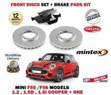 FOR BMW MINI 1.2 1.5 D + COOPER 2013-  FRONT BRAKE DISCS SET + DISC PADS KIT
