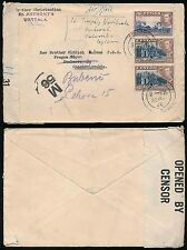 CEYLON to CZECHOSLOVAKIA WW2 CENSORED JULY 1945 + M56...ST ANTHONYS WATTALA