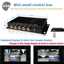 Car IR Control 4-Way Video Switch Parking Camera 4 View Split-Screen Control Box