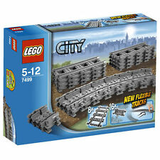 Lego City trenes Flexible & pistas rectas 7499 Box Set