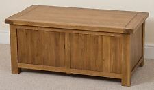 Cotswold Rustic Solid Oak Blanket Box Chest Trunk Bedroom Storage Unit Wooden