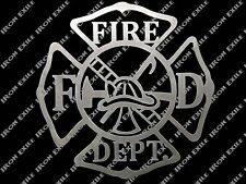Fire Department Metal Wall Art Sign Firefighter Mancave Christmas Gift Idea