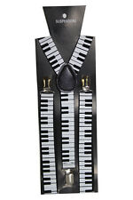 Negro Llaves Ajustables Cargaderas Piano Musical Fancy Dress Clip en Slim 2,5 Cm