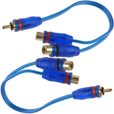 """Qty: 2) 7"""" RCA Audio Cable """"Y"""" Adapter Splitter  1 Male to 2 Female Plug 2 Pcs"""