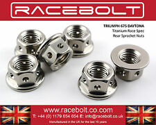 Triumph 675 Daytona Rear Sprocket Nut Kit - Racebolt Titanium Race Spec