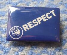 UEFA EUROPEAN SOCCER FOOTBALL FEDERATION RESPECT PIN BADGE