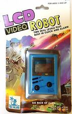 Vintage 1991 Toy Island LCD Video ROBOT Hand Held Toy Game - Clock & Alarm BNIP