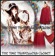 RIVER ISLAND CHELSEA GIRL RED WINE LACE VINTAGE 60s KIMONO SLEEVE DRESS 6 8 10+