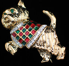JUMPING SCOTTIE SCOTTISH TERRIER YORKIE WESTIE DOG PUPPY PIN BROOCH JEWELRY 2""