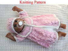 Knitting pattern for 15 - 18 inch doll coat and hat