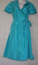 NWTJ.CREW BLUE SPECIAL OCCASIONS and PARTIES RUFFLE SHORT SLEEVE WRAP DRESS SZ.4