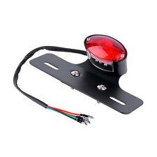 RED LED Racer Bobber Custom Motorcycle Motorbike Stop & Tail Rear Brake Light FT