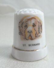 Vintage Collectible Souvenir Thimble Porcelain ST. BERNARD - Dog