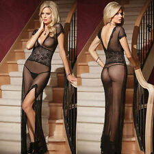 Women's Sexy Lingerie Lace Dress Babydoll Underwear Sleepwear G-String Nightwear