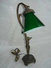 Lampada da tavolo ufficio scrivania ottone vetro verde