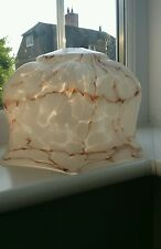 Art deco marbled glass lamp shade