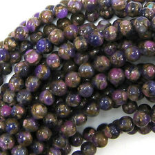 "7mm pressed jade round 7.5"" strand purple"