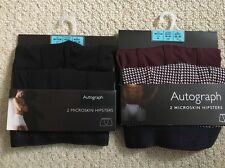 2x Autograph& M&S MicroSkin Hipsters Size M