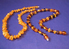 2 pcs. Genuine Baltic Amber Baby Necklaces Mixed Color