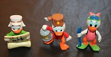 "Disney Ducktales PVC Figure Lot of 3 Toys Louie Webby & Huey Duck Map 2"" Diver"