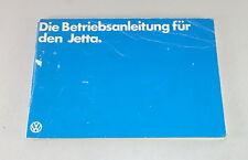 Betriebsanleitung / Handbuch VW Jetta 1 Stand 03/1980