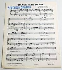 Partition vintage sheet music MICHEL JONASZ : Danse Papa Danse * 70's PROMO