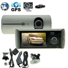 "G-sensor Dual Lens HD 2.7"" Car DVR Crash CAM dash Camera Driving Recorder"
