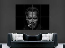 ARNOLD SCHWARZENEGGER POSTER CIGAR PORTRAIT FILM ACTOR  ART WALL LARGE IMAGE