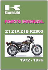 KAWASAKI Parts Manual Z1 Z1A Z1B KZ900 1972 1973 1974 1976 1975 1977 Catalog