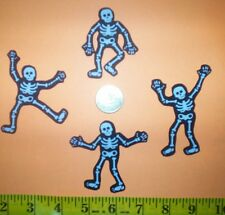 New! Cool! Skeletons IRON-ONS FABRIC APPLIQUES IRON-ONS