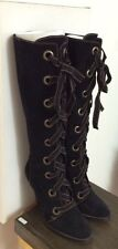 MOSCHINO Cheap and Chic Black Suede Boots...made in Italy Size 37