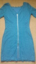 Diane Von Furstenberg cornflower blue lace Zarita 3/4 sleeve dress size 8.
