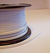 WHITE PLASTIC COVERED LAMP CORD 18/2 SPT-1 SOLD BY THE FOOT LAMP PART NEW 30251K