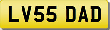 LV LVS DADDY FATHERS GIFT PRESENT  Private Cherished Registration Number
