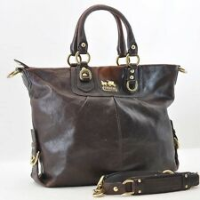 Authentic  COACH Leather Hand Bag 2Way Brown #S3504 E