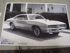 1969  PONTIAC  GTO   12 X 18  LARGE PICTURE  PHOTO