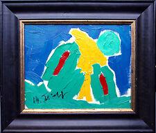 Michael Feicht (*1959): Figur in Grün mit gelbem Schal, Ölgemälde, 24 x 30 cm