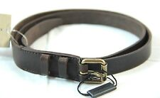 100% Authentic NWT Burberry Brown Leather Belt Made in Italy Size 42-105 $250