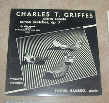 Charles T. Griffes Piano Sonata Roman Sketches op. 7 Walden LP