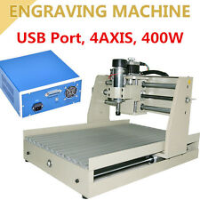 USB CNC Router Engraver Engraving Drilling Milling Machine 3040 400W Cutter UPS