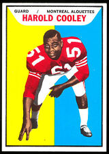 1965 TOPPS CFL FOOTBALL #62 HAROLD COOLEY NM MT MONTREAL ALOUETTES JACKSON STATE