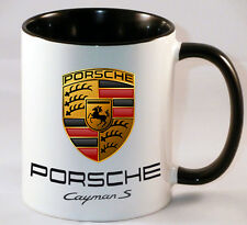 PORCHE CAYMAN S CAR ART MUG GIFT COFFEE TEA CUP