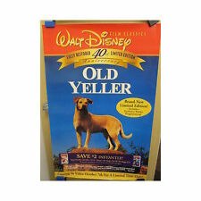 OLD YELLER Original Home Video Poster 40th Anniversary