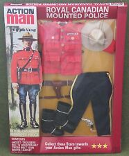 vintage action man 40th anniversary canadian mounted police  carded boxed