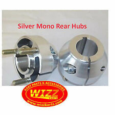 KART Pair of 30mm Short Silver Mono Rear Hub Best Price On Ebay