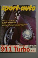 SPORT AUTO n°398 Mars 1995* 911 TURBO BMW 328i TOURING MERCEDES C37 CARLSSONA4