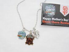 2013 San Francisco SF Giants SGA Mother's Day Charm Necklace 2012 World Champs