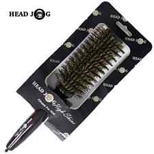 Head Jog 115 Professional Hair Brush, Boar and Nylon Bristle, High Shine, Salon