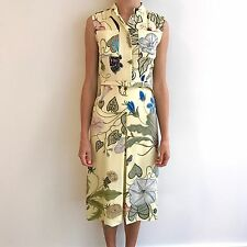 NWT Rare GUCCI Anna Wintour Sleeveless Yellow Floral Dress 370632 Sz 40/6, $2000