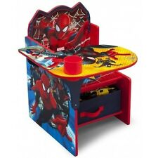 Spider Man Desk Chair Activity Storage Play Study Table Toddler Boys Marvel Hero